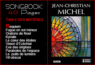 Songbook partitions Jean-Christian Michel